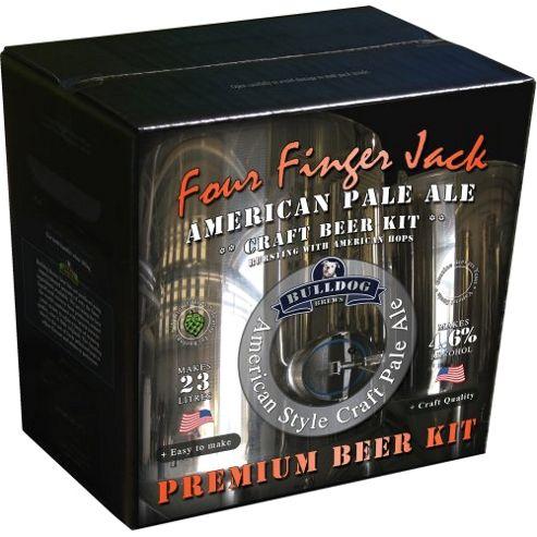 Bulldog Home Brew Kit - Four Finger Jack, American Pale Ale (4.6% Abv)