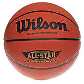 Wilson Performance All Star Basketball (7) - Brown