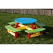 BrackenStyle Painted Pre-School Round Picnic Table - 3-5 Years