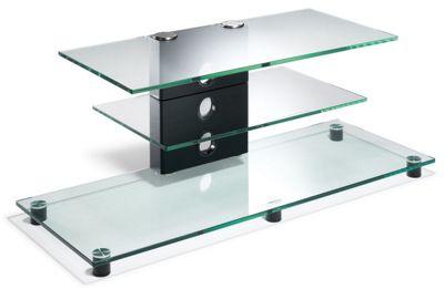 Elite Premium TV Stand - Transparent Glass - 110cm