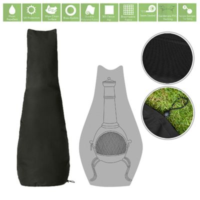 Black Water Resistant Garden Accessories Cover Protector for Chimnea