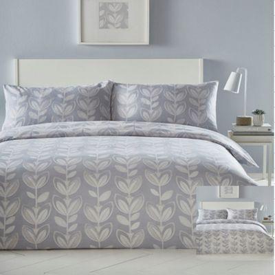 Escada duvet cover and pillowcase set - grey - single