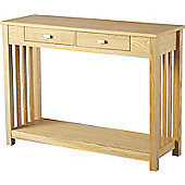 Ashmore 2 Drawer Console Table Ash Veneer