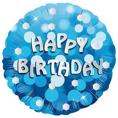 Blue Sparkle Happy Birthday Foil Balloon