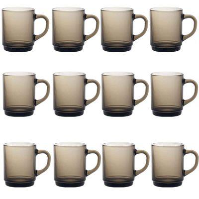 Duralex Versailles Coffee / Tea Hot Drinks Mug - 260ml - Smoked - x12