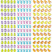 Easter Stickers Crystal Stick-on Stones for Children to Decorate Spring Cards Collage Crafts - Scrapbooking Embellishment for Kids (Pack of 285)