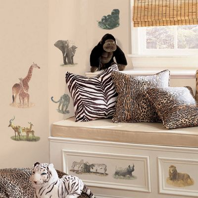Childrens Wall Stickers - Real Safari