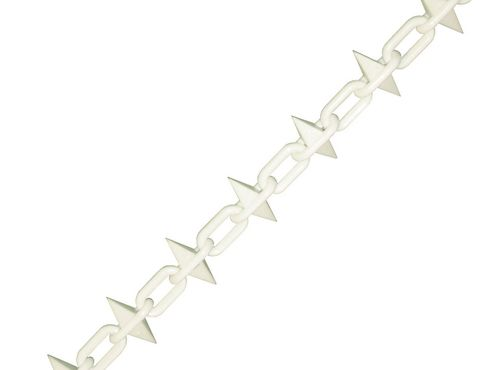 Faithfull Plastic Chain 6mm x 12.5m White Spiked