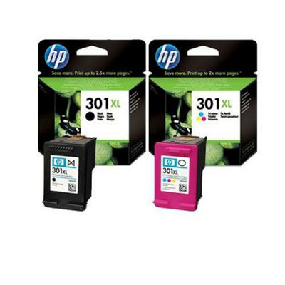 Hewlett-Packard Original Ink Cartridges for HP Deskjet 3050 Printer - Black+Tri-Colour