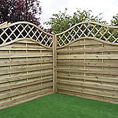 Mercia Horizontal Weave with Wavy Trellis Fence Panel 4ft Pressure Treated