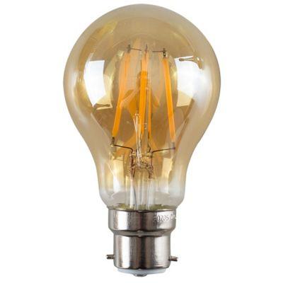 Vintage 4W LED Filament Amber GLS Lightbulb BC B22 - Warm White