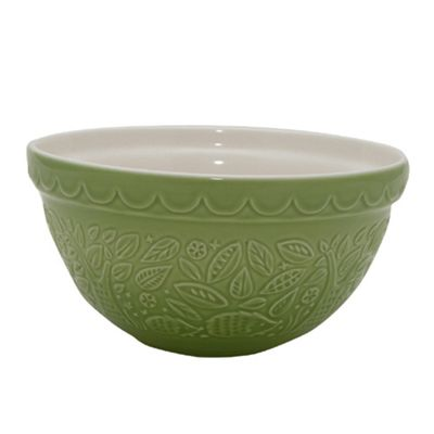 Mason Cash 21cm Hedgehog Embossed Green Mixing Bowl