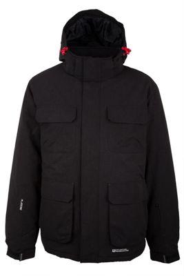 Yukon Men Snowproof Fleece Lined Insulated Hooded Snowboarding Skiing Ski Jacket