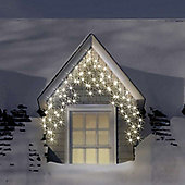 500 Warm White LED Icicle Chasing Christmas Lights