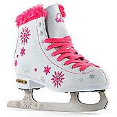 SFR Snowflake Vinyl Figure Ice Skates - White