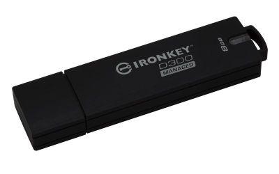Kingston 8GB Ironkey D300 Encrypted FIPS 140-2 Level 3 USB Flash Drive - Managed