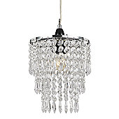 Modern Pendant Lighting Shade with Clear Acrylic Droplets and Beads