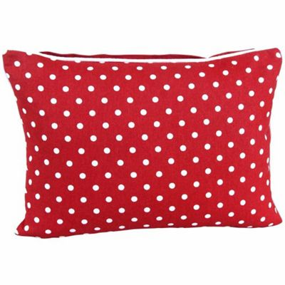 Homescapes Cotton Red Polka Dots Cushion Cover, 30 x 50 cm