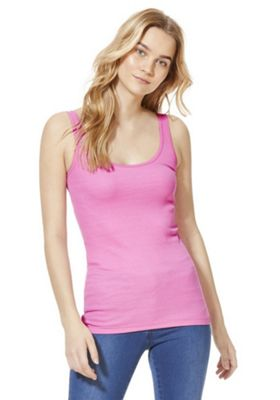F&F Scallop Trim Vest Top Pink 10