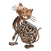 Silhouette Cat Light Garden Sculpture (Solar) by Smart Garden