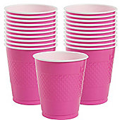 Hot Pink Cups - 473ml Plastic Party Cups - 20 Pack