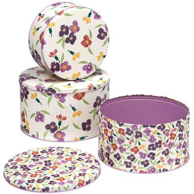 Emma Bridgewater Wallflower Set of 3 Cake Tins