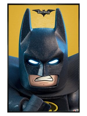 Lego Batman Gloss Black Framed Close Up Poster 61x91.5cm,
