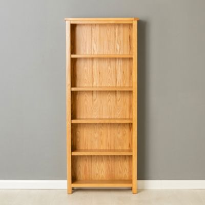 Poldark Oak Bookcase - Large Bookcase - Light Oak