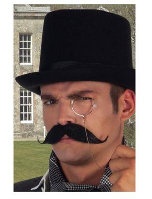 Black Baron Stick On Moustache Fancy Dress Accessory