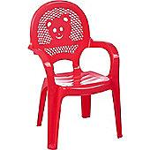 Resol Childrens Garden Plastic Chair - Red - (1 chair)