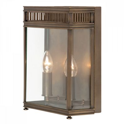 Dark Bronze Half Lantern Medium - 2 x 60W E14