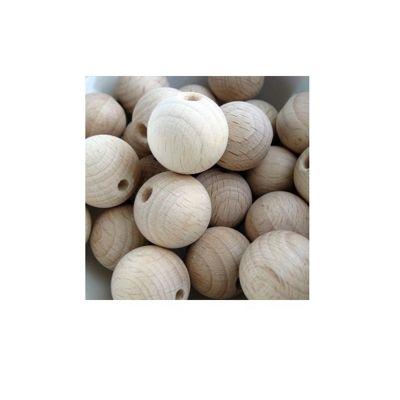 Craft Factory Wooden Beads 20mm Pk7 Beech