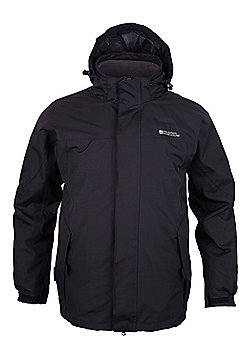Mountain Warehouse Storm Mens 3 in 1 Waterproof Jacket - Electric blue