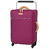IT Luggage Tritex Quilted 4 wheel Persian Red Cabin Case