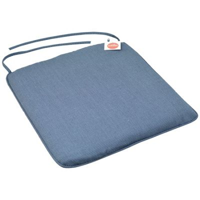 Harbour Housewares Padded Dining Chair Seat Cushion With Ties - Blue - 22.4