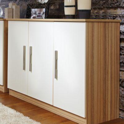 Welcome Furniture Living Room 3 Door Unit - Vanilla/Cocobola