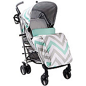 My Babiie MB51 Stroller (Mint Chevron)