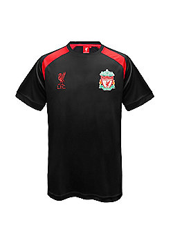 Liverpool FC Mens Poly T-Shirt - Black