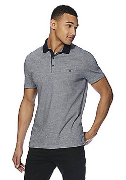 F&F Signature Jacquard Polo Shirt - Blue