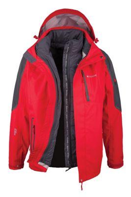 Zenith Mens 3 In 1 Waterproof Breathable Detachable Inner Coat Jacket
