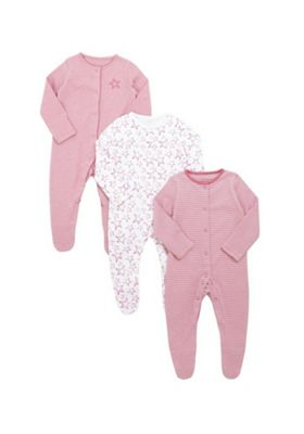 F&F 3 Pack of Sketchy Safar Slepsuits Multi 0-3 months