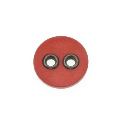 Dill Buttons 32mm 2 Metal Hole Red