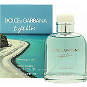 Dolce & Gabbana Light Blue Pour Homme Swimming in Lipari Eau de Toilette (EDT) 125ml Spray For Men