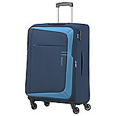 American Tourister HyperFlair 4 Wheel Blue Medium Suitcase