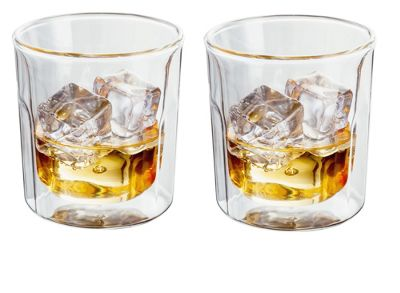 Judge Borosilicate Glass Double Walled Heat Resistant Glass Tumbler Glasses Set of 2 330ml