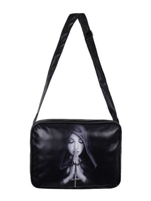 Anne Stokes Gothic Prayer Black Shoulder Bag 36x26cm
