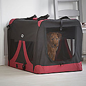 Milo & Misty Extra-Large Fabric Pet Carrier - Lightweight Travel Seat for Dogs, Cats, Puppies - Made of Waterproof Nylon and a Durable Steel Frame
