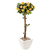 Artificial 4ft Yellow Rose Tree