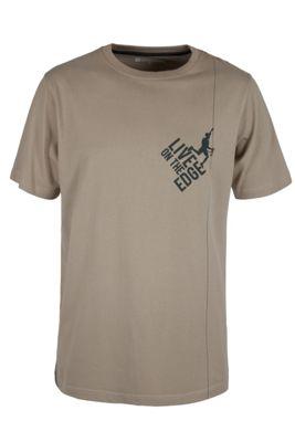 Live On The Edge Men's Cotton Tee-Shirt