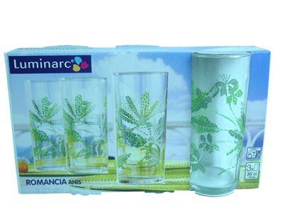 Luminarc Romancia, Highball Tumbler, Anise Green, Set of 3